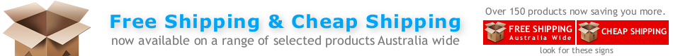 Free And Cheap Shipping Australia Wide On Selected Products