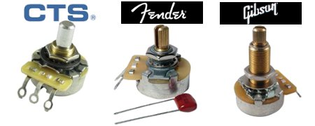 CTS, Fender, and Gibson Potentiometers