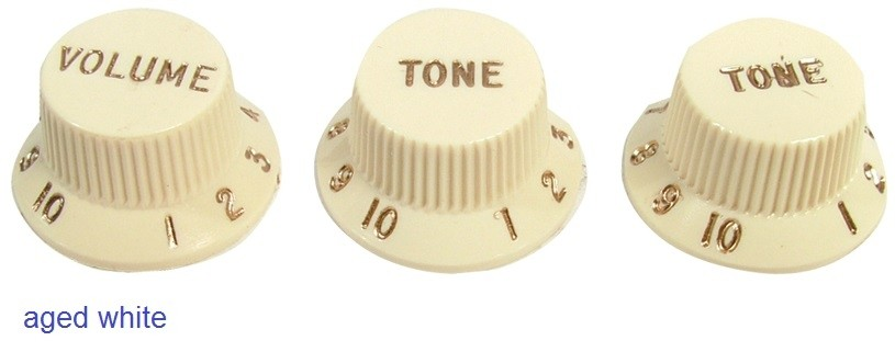 Original Fender Vintage Strat Knobs - Set of 3