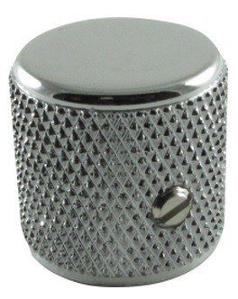 Knobs - Fender® Telecaster/P-Bass Barrel Chrome Flat (Pair)