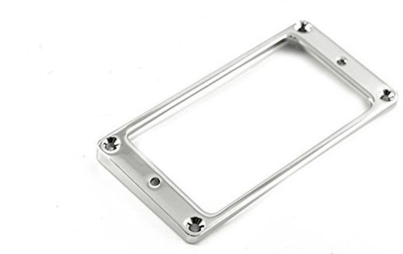 Humbucker Front Mounting Ring (Curved), Metal - Chrome
