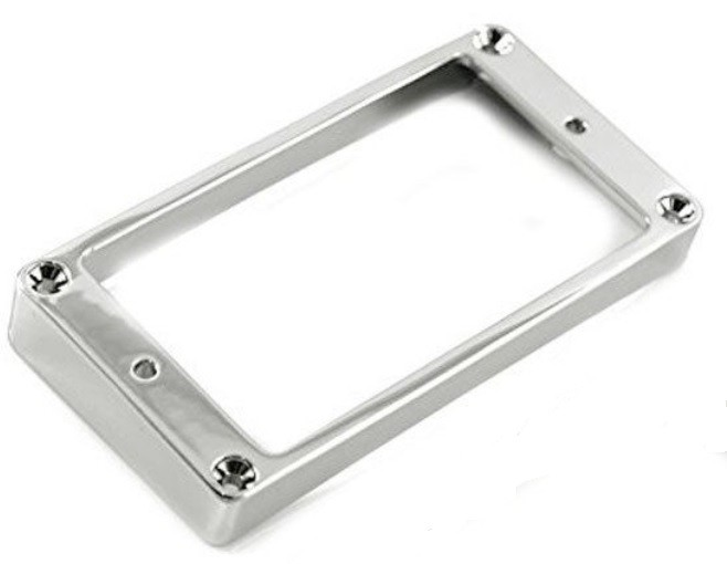 Humbucker Rear Mounting Ring (Curved), Metal - Chrome