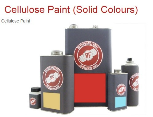 Rothko & Frost Nitro Lacquer (Coloured) Aerosols - solid colours