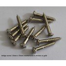 Tele / Bass Bridge Mounting Screws - Countersunk