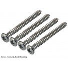 Genuine Fender Neck Attachment Screws (Set of 4) - Chrome