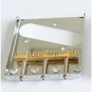 TL Bridge Vintage style - Chrome w/3 Brass Saddles - compensated
